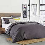 Lacoste Solid Castlerock Twin/Twin XL Duvet Cover Set in Dark Grey