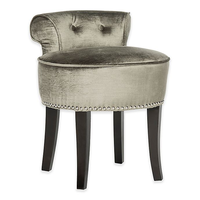 Alternate image 1 for Safavieh Georgia Vanity Stool in Pewter