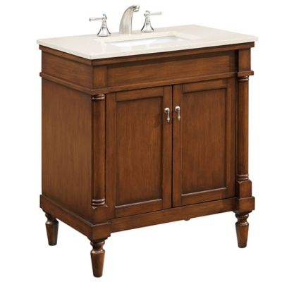 Single vanity set in walnut bed bath beyond - Bed bath and beyond bathroom vanity ...