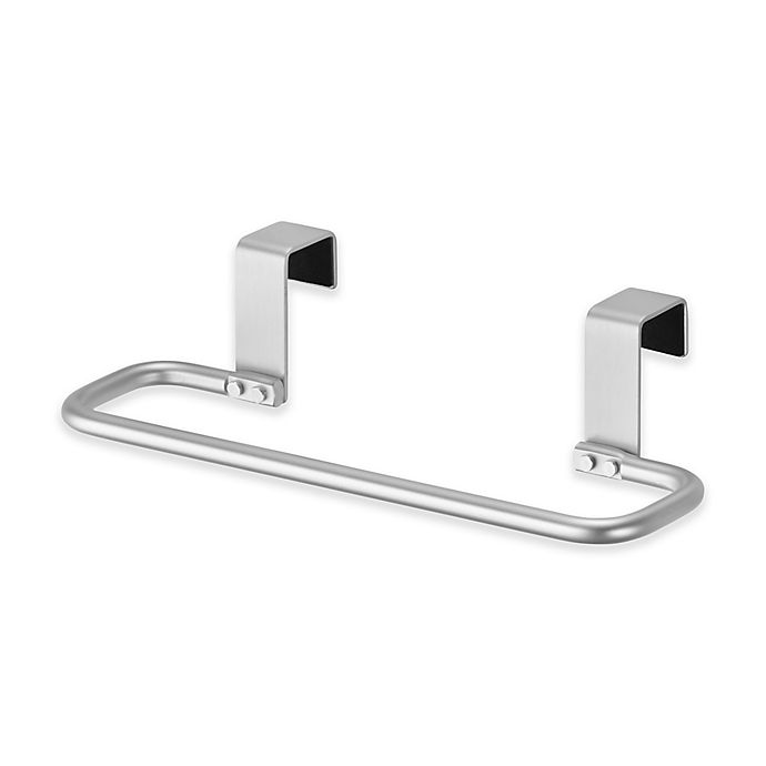 Interdesign 174 Over The Cabinet Towel Bar In Silver Bed