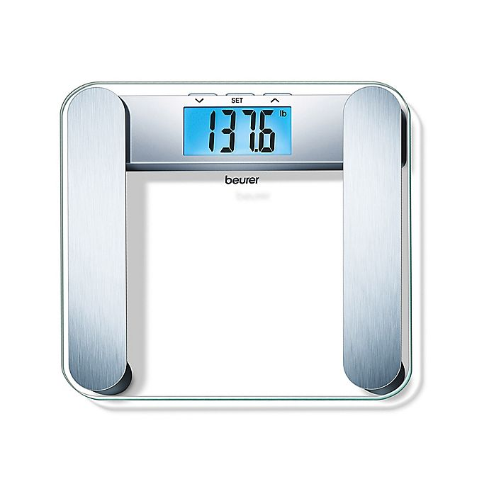 Beurer Glass Body Analysis Scale With Backlit Lcd In Blue