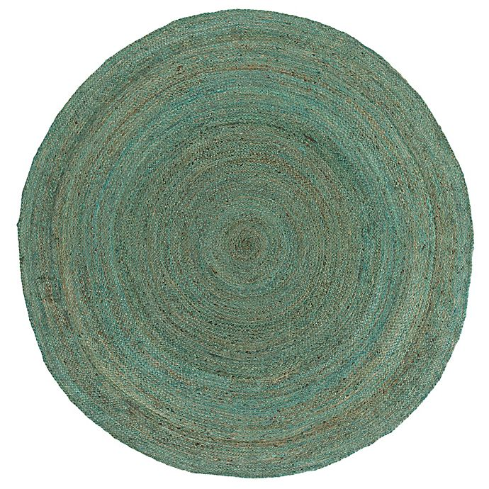 Alternate image 1 for Surya Voru 5-Foot Round Area Rug in Mint