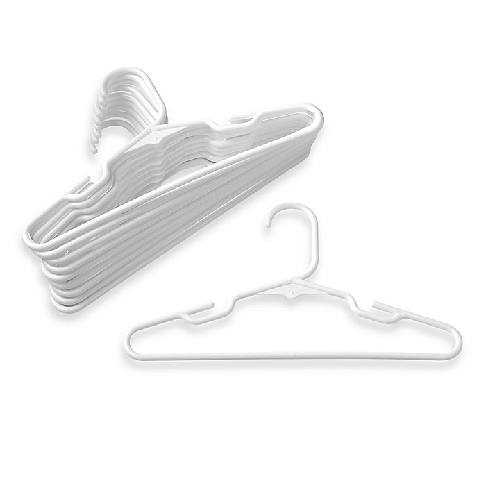Alternate image 1 for Plastic Children's 10-count Clothes Hangers in White