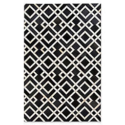 Surya Luiana Hide 5-Foot x 8-Foot Area Rug in Black