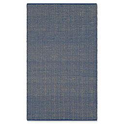 Surya Wesley 2-Foot x 3-Foot Indoor/Outdoor Accent Rug in Dark Blue