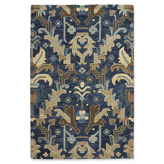 Alternate image 1 for Kaleen Brooklyn Goa 2-Foot x 3-Foot Accent Rug in Navy