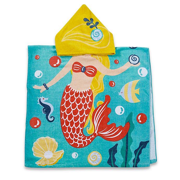 Alternate image 1 for Kids Printed Mermaid Hooded Beach Towel