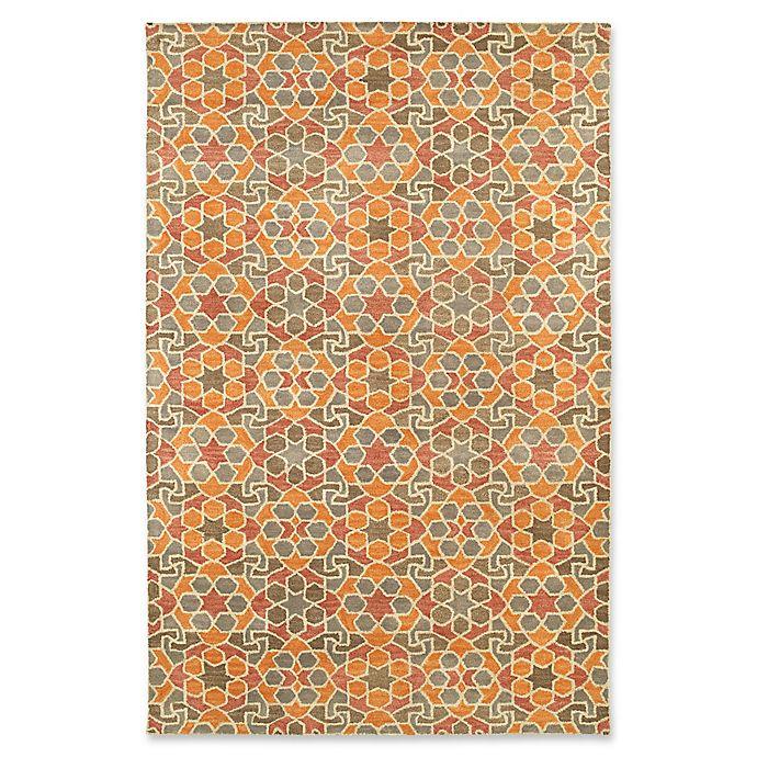 Alternate image 1 for Kaleen Rosaic Marakesh 8-Foot x 11-Foot Area Rug in Orange
