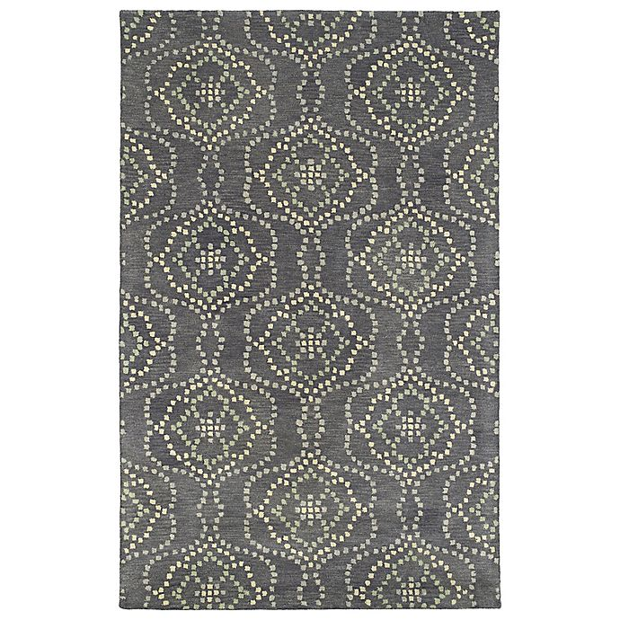 Alternate image 1 for Kaleen Rosaic Wallpaper 8-Foot x 11-Foot Area Rug in Slate