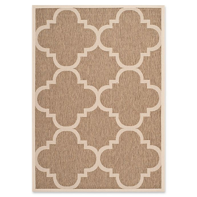 Alternate image 1 for Safavieh Courtyard Quatrefoil Indoor/Outdoor Rug