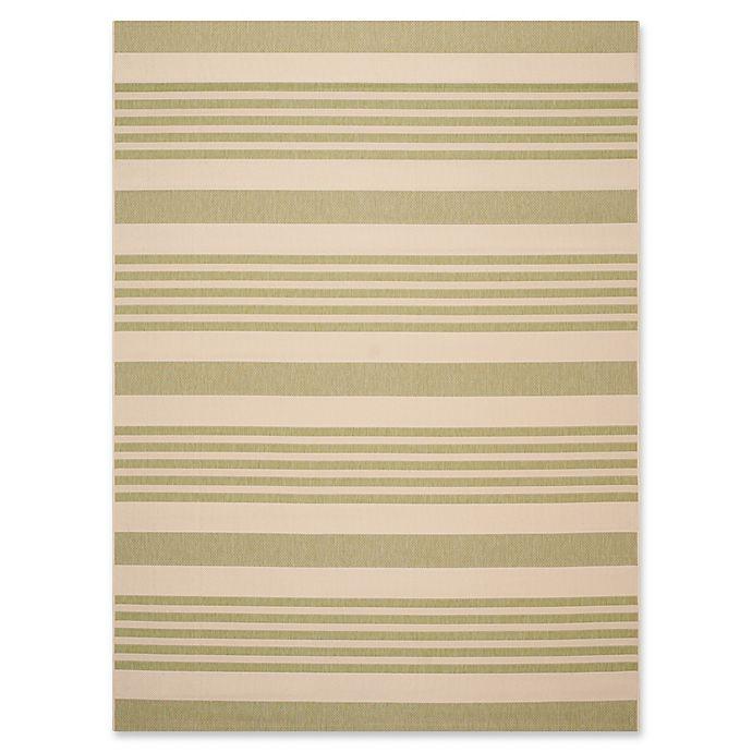 Alternate image 1 for Safavieh Courtyard Stripes Indoor/Outdoor Rug