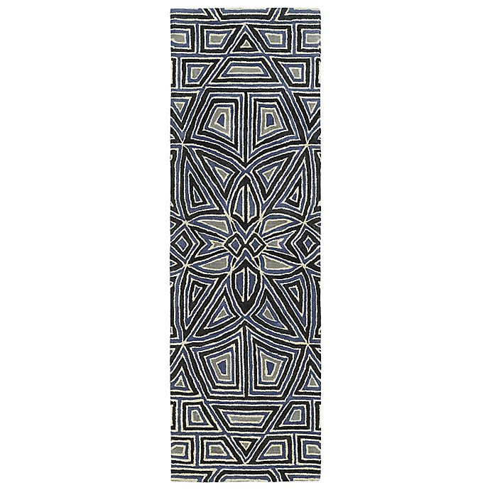 Alternate image 1 for Kaleen Rosaic Patio 2-Foot 6-Inch x 8-Foot Area Rug in Periwinkle