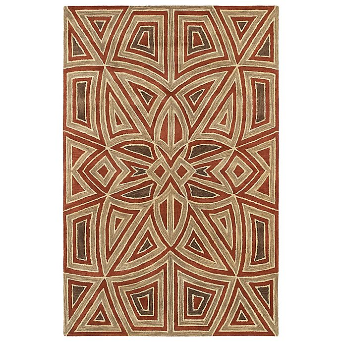 Alternate image 1 for Kaleen Rosaic Patio 3-Foot 6-Inch x 5-Foot 6-Inch Area Rug in Rust
