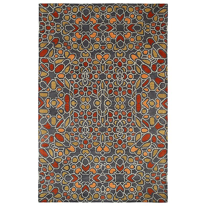 Alternate image 1 for Kaleen Rosaic Hebron 8-Foot x 11-Foot Area Rug in Charcoal