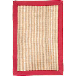 Flores Natural 2-Foot x 3-Foot Accent Rug in Dark Red