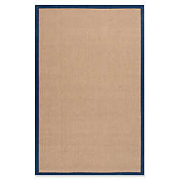 Flores Natural 5-Foot x 8-Foot Area Rug in Dark Blue