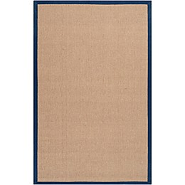 Flores Natural 9-Foot x 13-Foot Area Rug in Dark Blue