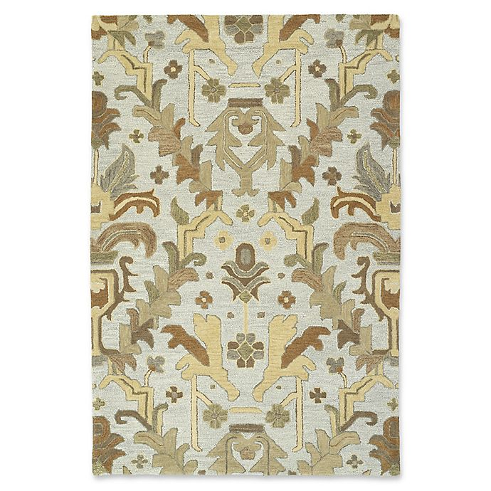 Alternate image 1 for Kaleen Brooklyn Goa 9-Foot 6-Inch x 13-Foot Area Rug in Silver