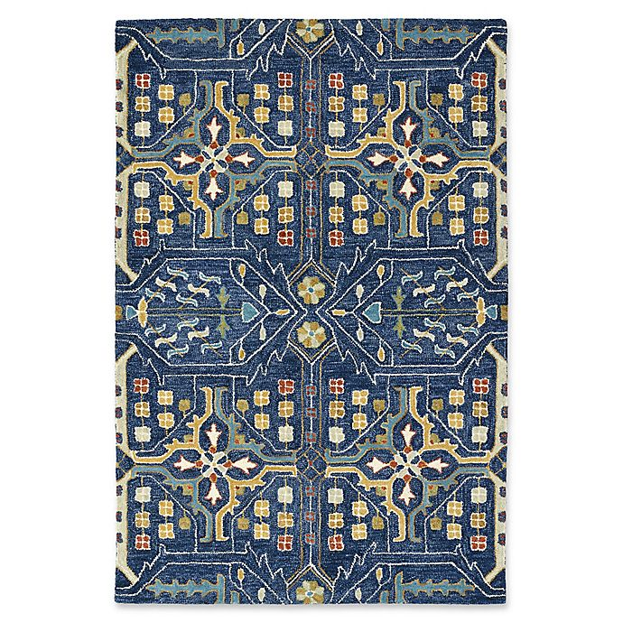 Alternate image 1 for Kaleen Brooklyn Artisan 9-Foot 6-Inch x 13-Foot Area Rug in Navy