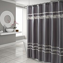 Croscill® Spa Tile 70-Inch x 75-Inch Shower Curtain in Grey