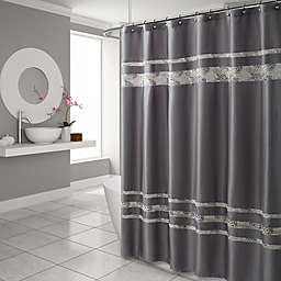 Croscill® Spa Tile Shower Curtain in Grey