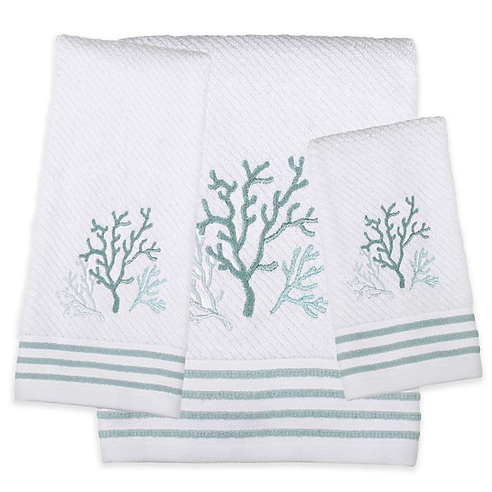 Alternate image 1 for SKL Home Coral Reef Bath Towel in White