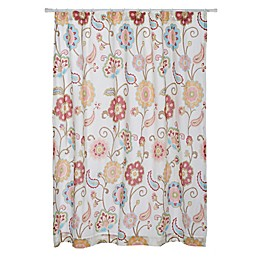 Levtex Home Araya Shower Curtain in Red