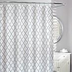 Moda Frette Fabric Shower Curtain in Grey/White