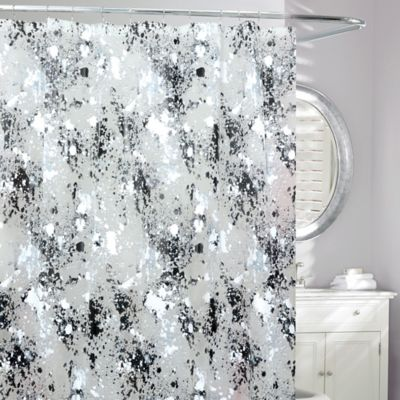 Storm Frosted Shower Curtain In Black White