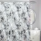Storm Frosted Shower Curtain in Black/White