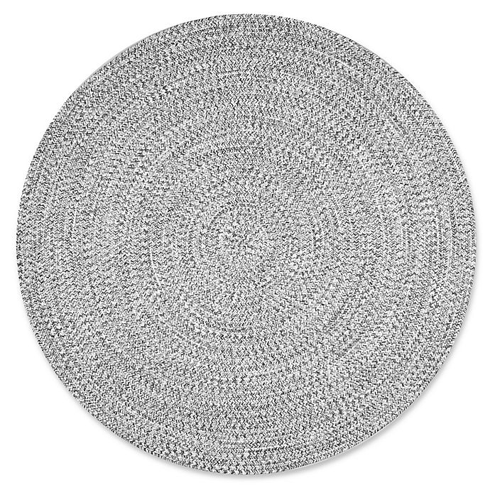 Alternate image 1 for nuLOOM Festival Braided Lefebvre 6-Foot Round Rug in Salt and Pepper