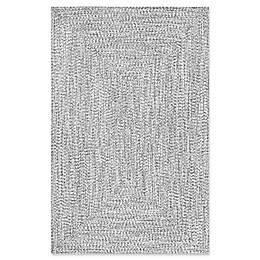 nuLOOM Festival Lefebvre Braided Rug in Black/White