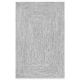 nuLOOM Festival Lefebvre Braided 7-Foot 6-Inch x 9-Foot 6-Inch Area Rug in Black/White
