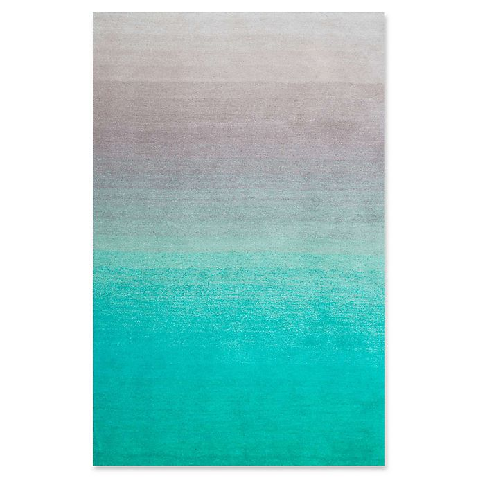 Alternate image 1 for nuLOOM Ombre 4-Foot x 6-Foot Shag Area Rug in Turquoise
