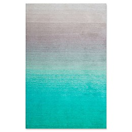 nuLOOM Ombre Shag Rug in Turquoise