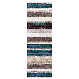 nuLOOM Hand Tufted Classie 2-Foot 6-Inch x 8-Foot Shag Runner in Blue