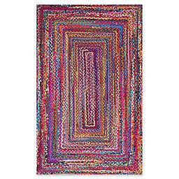nuLOOM Nomad Hand-Braided Tammara Multicolor Rug