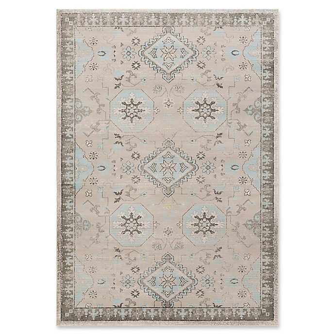 Alternate image 1 for Surya Allegro Hint of Blue 2-Foot 2-Inch x 3-Foot Accent Rug in Khaki