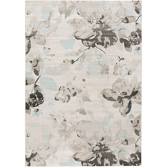 Alternate image 1 for Surya Allegro Wispy Floral 2-Foot 2-Inch x 3-Foot Accent Rug in White