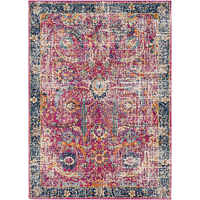 Alternate image 1 for Surya Fenalun Floral Border 9-Foot 3-Inch x 12-Foot 6-Inch Area Rug in Pink