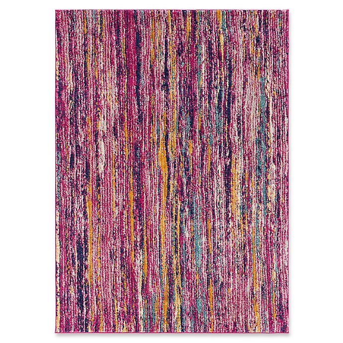 Alternate image 1 for Surya Fenalun Stripe 3-Foot 11-Inch x 5-Foot 7-Inch Area Rug in Pink