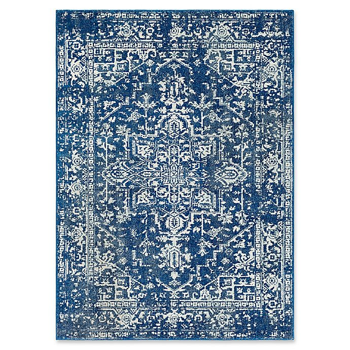 Alternate image 1 for Surya Fenalun 3-Foot 11-Inch x 5-Foot 7-Inch Area Rug in Dark Blue/White