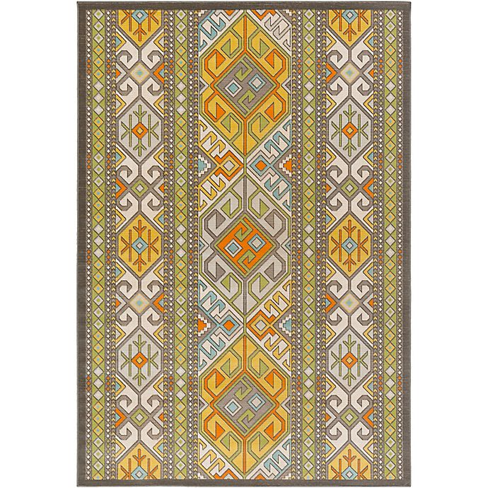 Alternate image 1 for Surya Ayomide Southwest 2-Foot 8-Inch x 5-Foot Accent Rug in Brown/Green