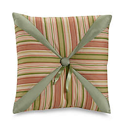 Fiji Square Throw Pillow in Beige