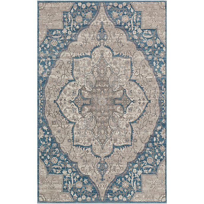 Alternate image 1 for Surya Calput Large Medallion 9-Foot x 12-Foot Area Rug in Taupe/Blue