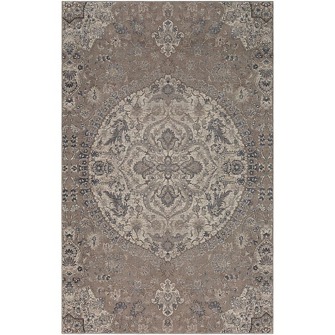 Alternate image 1 for Surya Calput Circular Medallion 9-Foot x 12-Foot Area Rug in Taupe