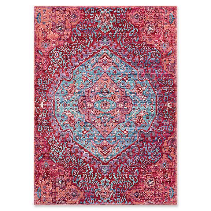 Surya Dynine Rug In Aqua/Pink