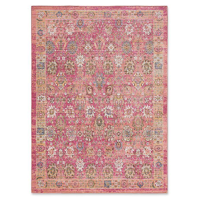 Surya Dynine Floral Rug In Bright Pink