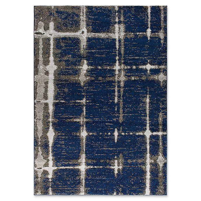 Alternate image 1 for Surya Solaris Modern 5-Foot 3-Inch x 7-Foot 6-Inch Area Rug in Dark Blue