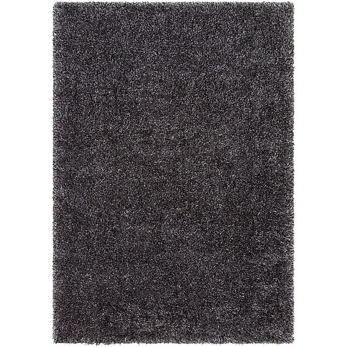 Alternate image 1 for Surya Aynwild Solid Shag 6-Foot 7-Inch x 9-Foot 6-Inch Area Rug in Charcoal